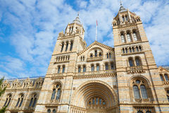Natural History Museum building facade in a sunny day Royalty Free Stock Photography
