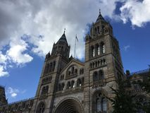 Natural History Museum in London. Below the blue sky royalty free stock photography