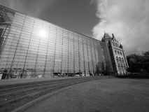Natural History Museum in London black and white. LONDON, UK - CIRCA JUNE 2017: The Natural History Museum on Exhibition Road in South Kensington in black and royalty free stock photos
