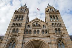 The Natural history museum in London stock image