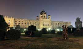 Natural History Museum at night, Vienna Stock Photo