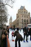 Natural History Museum's Ice Rink Stock Photos