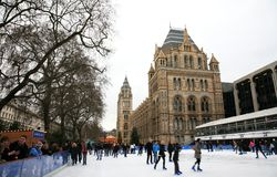 Natural History Museum's Ice Rink Stock Photo