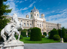 Natural History Museum, Vienna. Sculptures on foreground Stock Photography
