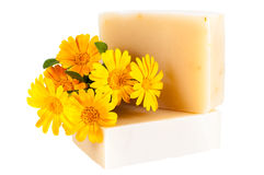Natural home made soap isolated white Stock Photography