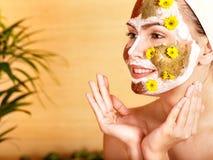 Natural homemade clay  facial masks . Royalty Free Stock Photography