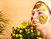 Natural homemade clay  facial masks . Royalty Free Stock Photography