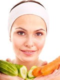 Natural homemade facial masks . Royalty Free Stock Images