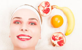 Natural homemade fruit facial mask Royalty Free Stock Image