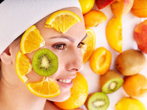 Natural homemade fruit  facial masks . Royalty Free Stock Photos