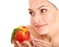 Natural homemade fruit  facial masks . Stock Images