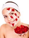 Natural homemade fruit  facial masks . Stock Photos