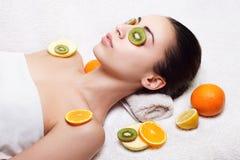 Natural homemade fruit facial masks Stock Photography