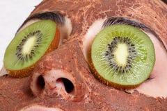 Natural homemade fruit facial masks Stock Images