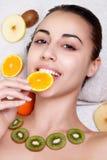 Natural homemade fruit facial masks Royalty Free Stock Photo