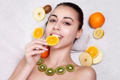 Natural homemade fruit facial masks Royalty Free Stock Images