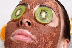 Natural homemade fruit facial masks Stock Photo