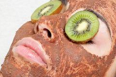 Natural homemade fruit facial masks. Fresh fruit Royalty Free Stock Photography