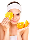 Natural homemade fruit  facial masks . Royalty Free Stock Photography