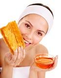 Natural homemade organic  facial masks of honey. Isolated Stock Images