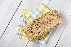 Natural homemade seeds and buckwheat bread Stock Image