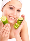 Natural homemade vegetables  facial masks . Royalty Free Stock Photography