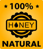 Natural honey background Stock Image