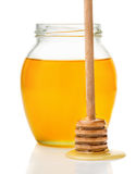 Natural honey in a glass ja Royalty Free Stock Photos