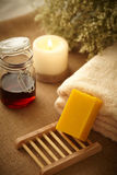 Natural honey soap Royalty Free Stock Images