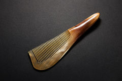 Natural horn comb studio shot Stock Photos