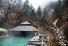 Natural hot spring Royalty Free Stock Photo