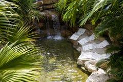 Natural hot spring bath Stock Photo