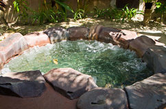 Natural Hot Spring Jaccuzi, Malaysia. Bath with hot spring jaccuzi Stock Photo