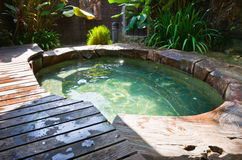 Natural Hot Spring Jaccuzi, Malaysia. Bath with hot spring jaccuzi Stock Photos