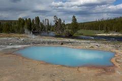 Natural hot spring pool Royalty Free Stock Photos