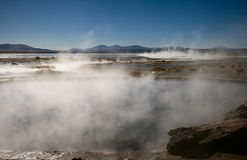 Natural Hot Springs. In Bolivia Stock Photos