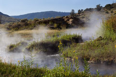 Natural Hot Springs for Bathing in Yellowstone Park Royalty Free Stock Photo