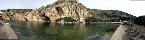 Glyfada natural hot springs Royalty Free Stock Images