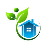 Natural House Logo Royalty Free Stock Images