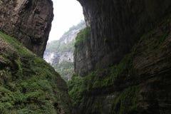 Natural huge cave and canyons. China's chongqing wulong natural three bridge, the location of transformers 4 and other  movies Royalty Free Stock Image