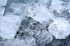 Natural ice cubes in close up, artwork of nature Royalty Free Stock Image