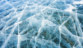 Natural ice in lake Hovsgol Stock Image