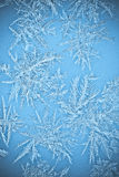 Natural Icicle frost crystals on windows Stock Image