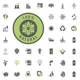 Natural icon. Eco and Alternative Energy vector icon set. Energy source electricity power resource set vector. Natural icon. Eco and Alternative Energy vector Royalty Free Stock Images