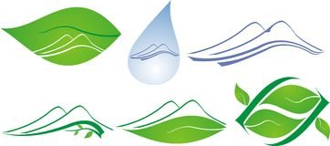 Natural icon. Green nature and water purity Royalty Free Stock Image