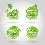 Natural icon set. Eco-icons Stock Photography
