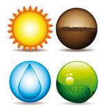 Natural icons Stock Images
