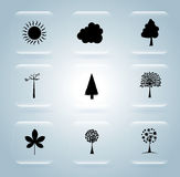 Natural icons Royalty Free Stock Image