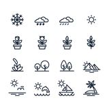 Natural icons set, line style vector illustration vector illustration