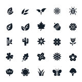 Natural icons Royalty Free Stock Images